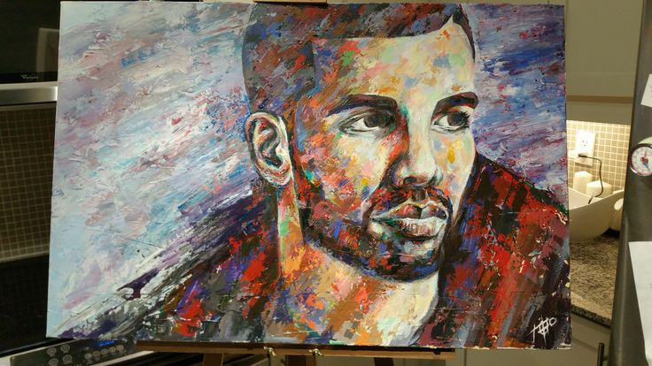 Drake I acrylic on canvas I  24x36  I $800 (CDN) Painted by Tom Cho #drake #6ixgod #the6ix #toronto