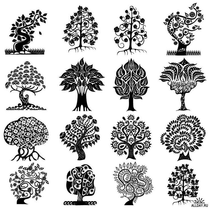 дерево в графике с узорами: 7 тыс изображений найдено в Яндекс.Картинках