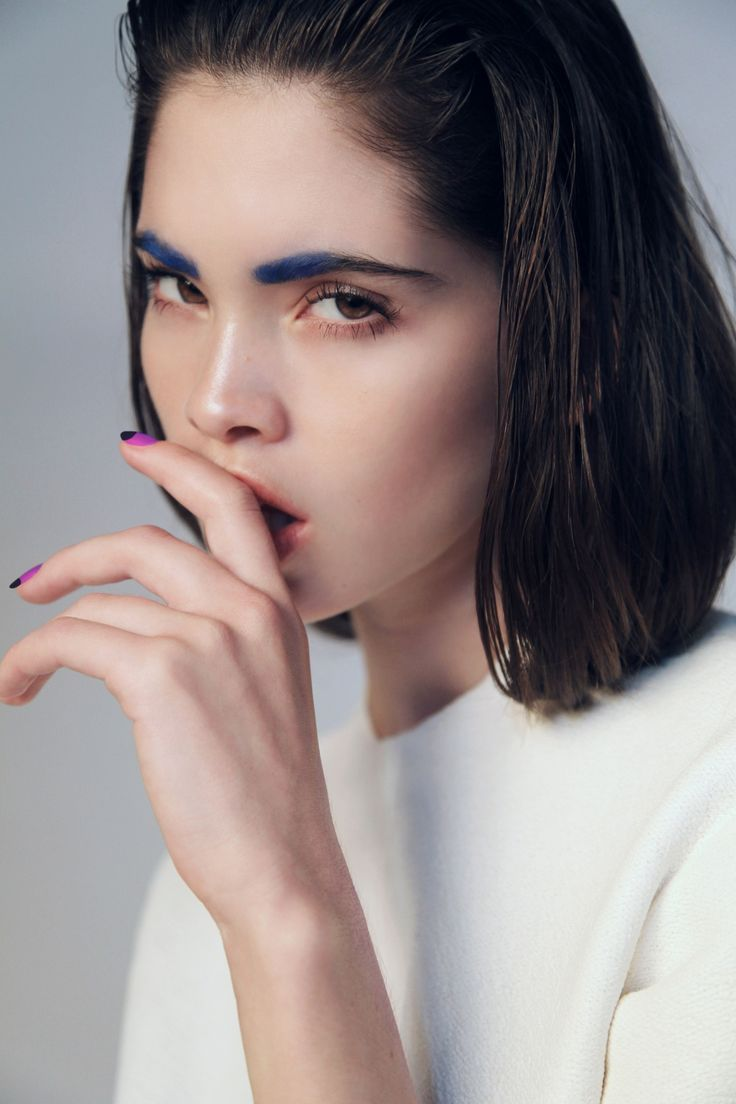 Bold Blue Brows