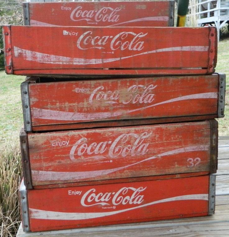 Vintage Coke Crates - Red - Set of 2. $25.00, via Etsy.
