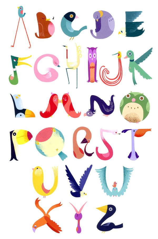 andrea kalfas loving the bird alphabet - talk about flash cards for kids - oh yes please before my littlie grows up