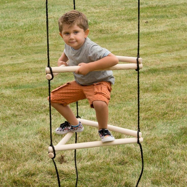 Your kids or grandkids will love climbing up and down this triangle rope ladder. Its unique design helps develop agility, coordination, balance and strength. You can also easily install it on most swing hangers with ready-to-attach links and ground anchors. One of The Home Depot's most pinned products.