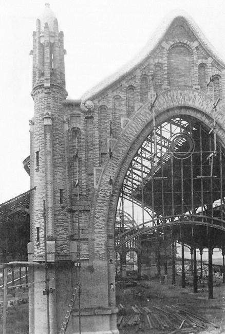 Mercado de Colón en construcción. 1926