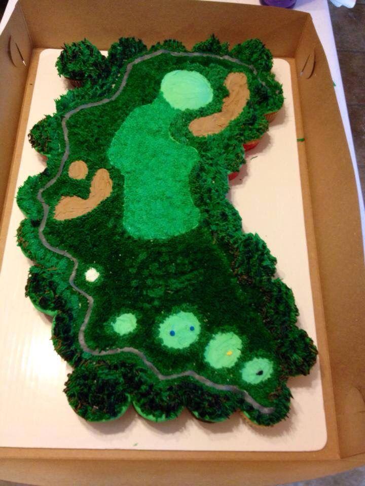 Cupcakes golf course cake