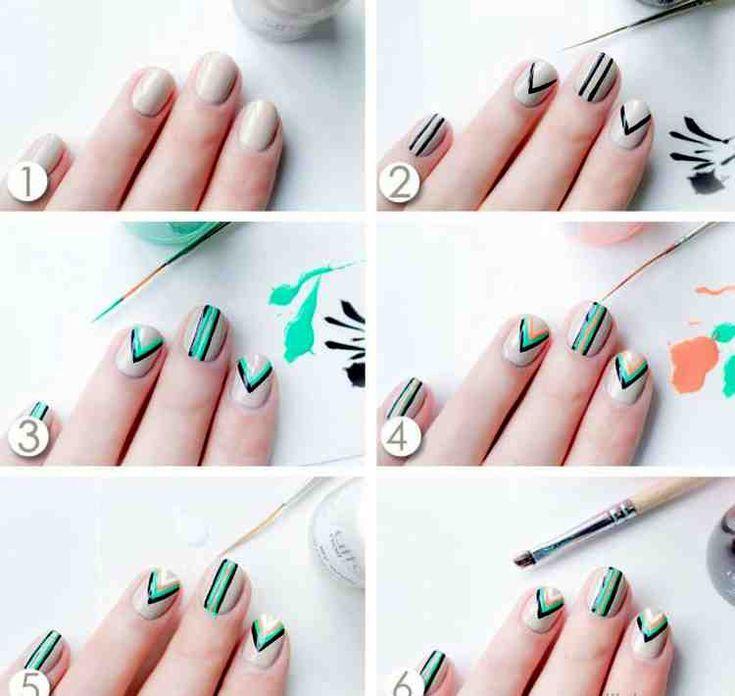 134 Nail Designs Ideas – Pastelltöne und geometrische Muster liegen im Trend