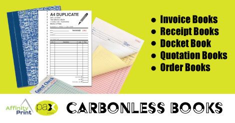 Invoice Books Printing in Melbourne. Carbonless books come in many different forms. Invoice Books, Receipt Books, Docket Books, Quotation Books, Order Books, are just some of the many variations of carbonless books.  We can print your Custom Invoice Books in duplicate or triplicate and print up to 10 books within 3 days. #InvoiceBooks #CarbonlessBooks #DocketBooks #Pads