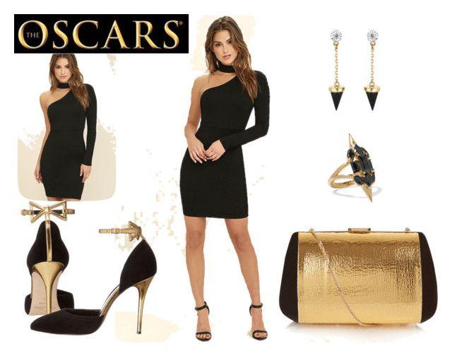 The Oscars II by airrazor23 on Polyvore featuring polyvore fashion style LULUS Oscar de la Renta Nina Ricci Noir Jewelry Brixton clothing RedCarpet