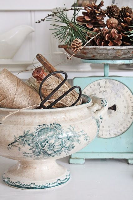love both the scale and the bowl.   maddyandsummer:  Via vibekedesign.blogspot.com