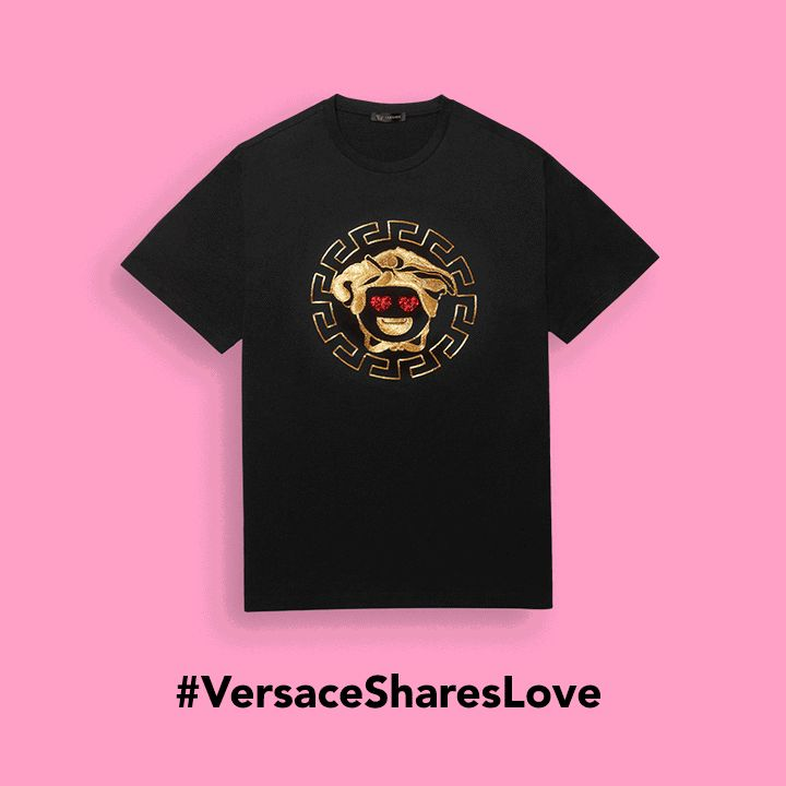The ‪#‎Versace‬ Medusa is ready to take over, Emoji style. Explore the brand new #Versace Emoji app and the fun capsule collection of T-shirts for him and for heron versace.com