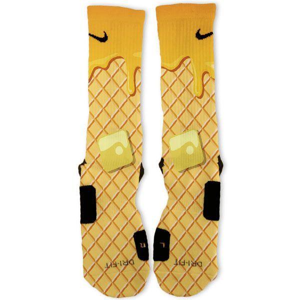 Waffle And Syrup Custom Nike Elite Socks