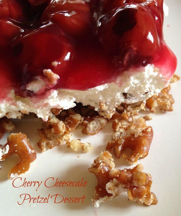 Turnips 2 Tangerines: Cherry Cheesecake Pretzel Dessert/Salad
