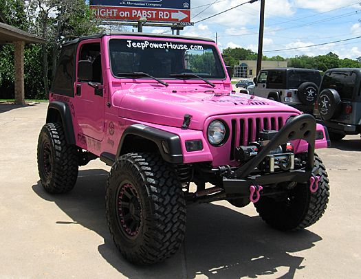 "pink  for jeep wrangler | 2002 Jeep Wrangler Sport ""Breast Cancer Raffle"""