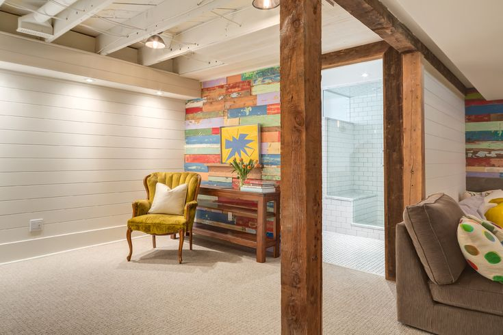 Basement lighting ideas basement eclectic with distressed painted wood reclaimed wood reclaimed wood recessed lighting