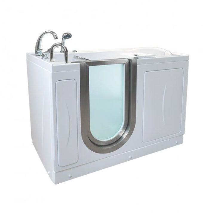 Infusion™ MicroBubble Therapy Walk In Bathtub  (28″ x 52″ x 38″) The MicroBubble System is available in three options: Petite Soaking, Elite Soaking, and Royal Soaking. http://www.aquatherapytubs.com/acrylic-walk-in-bathtubs/