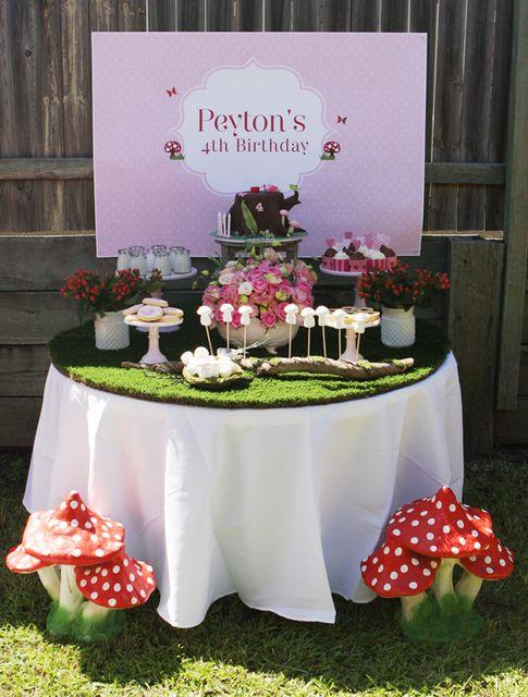 Enchanted Fairy Theme: The Cake Table