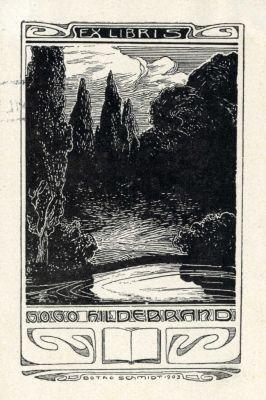 Bookplate by Botho Robert Schmidt for Gogo Hildebrand, 1903