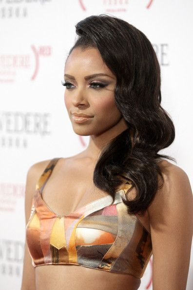 Actress Katerina Graham arrives at the (BELVEDERE) RED launches with Usher on February 10, 2011 in Hollywood, California.
