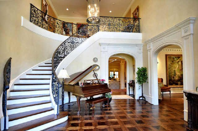 Crescent House Foyer Strood : Best curved staircase ideas on pinterest foyer