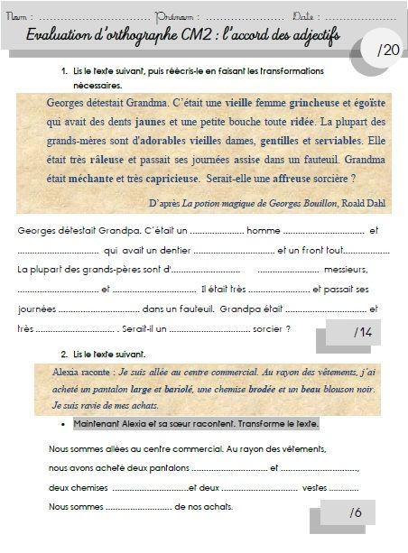 évalCM2 | MA MAITRESSE DE CM1-CM2