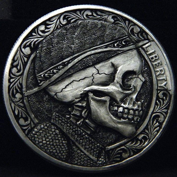 ROBERT MORRIS HOBO COIN - SKULL HOBO - .999 SILVER ROUND