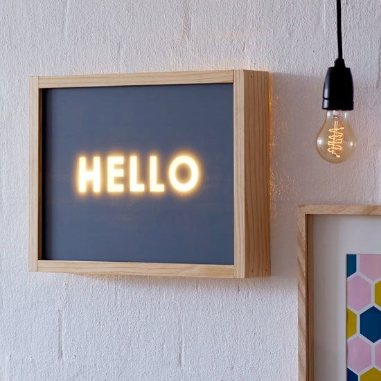 Typographique Lightbox #diy