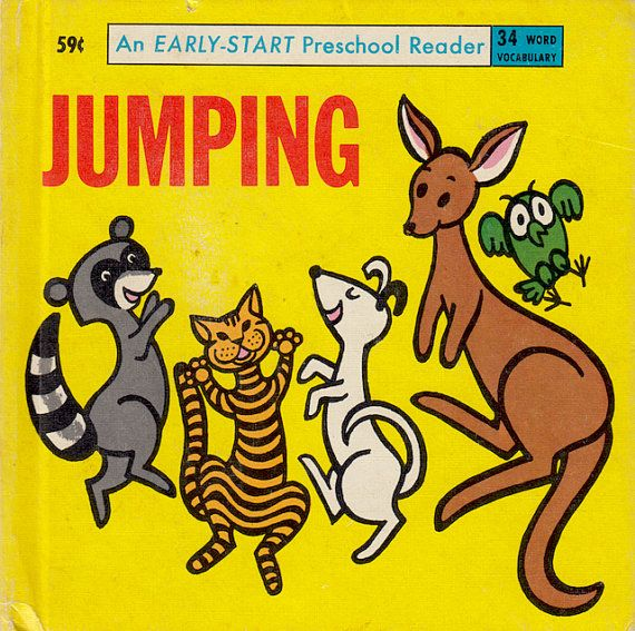 vintage children's book Jumping, 1965
