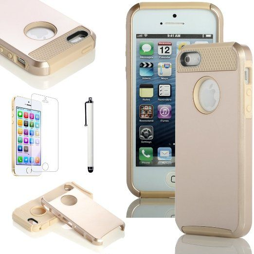 Amazon.com: ATC Masione(TM) Fashion TPU + PC 2-Piece Style Soft Hard Defender Case Cover for iPhone 5 iPhone 5S with Screen Protector & Stylus (Gold+Gold): Cell Phones & Accessories   http://www.amazon.com/Masione-Fashion-2-Piece-Defender-Protector/dp/B00G91XE2A/ref=sr_1_35?ie=UTF8&qid=1395092350&sr=8-35&keywords=iphone+5s+cases+for+girls