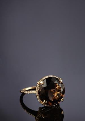 MASSIVE Smoky Quartz ring. Love it.