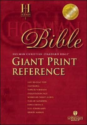 HCSB Giant Print Reference Bible-Burgundy Imitation Leather S/S