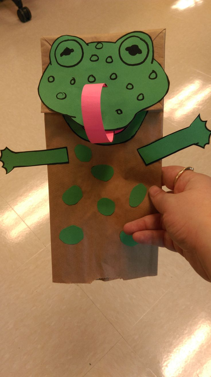 Summary Paper Bag Frog Puppet Crafts By Amanda