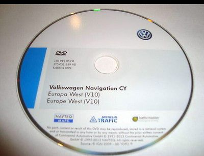 VOLKSWAGEN RNS 510 810 MAPPA 2014 V10 (8009) EUROPA AUTOVELOX AGGIORNAMENTO 2014