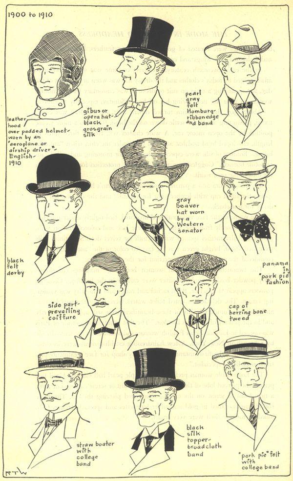 1900 1910 Men Edwardian Fashions Pinterest Men Hats Hats And Mens Hat Styles