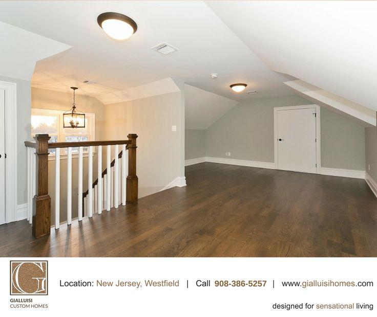 Hallway inspiration: pastel colors and hardwood floors.