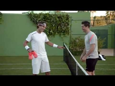 i WANT to watch this match for real!!! Cristiano Ronaldo vs Rafa Nadal in Nike Commercial - YouTube