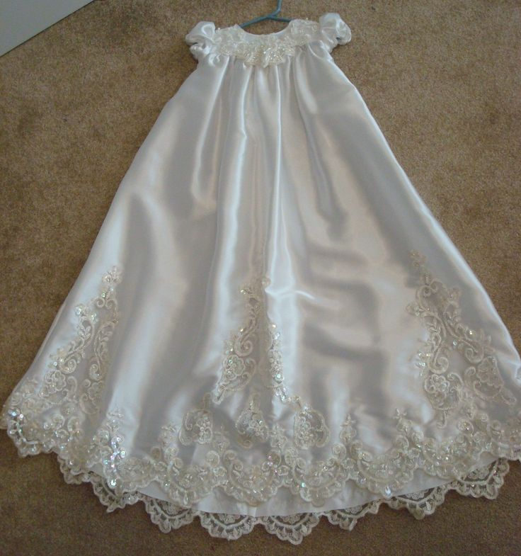 Christening gown from upcycled from a wedding dress-- great for a little girl! if you have a horrendous 80's dress!