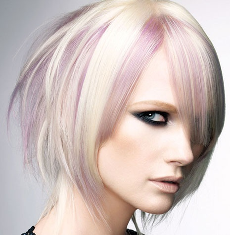 I love the temporary pink with the blond! Fun & different!! :)