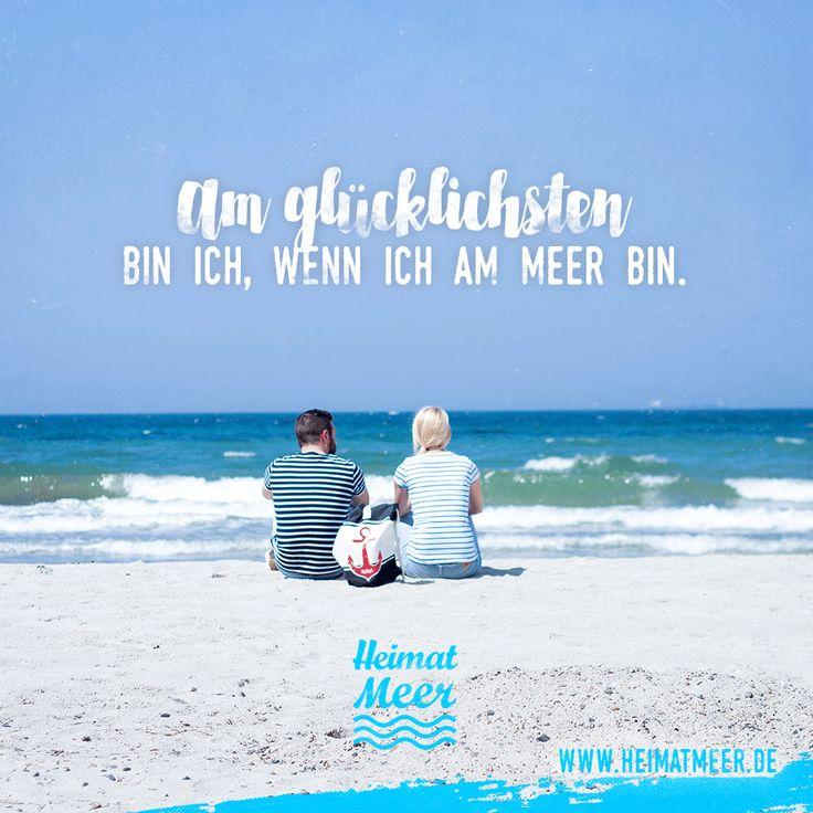 Am glücklichsten bin ich, wenn ich am Meer bin. Mehr für meerverliebte gibt's im LINK >>