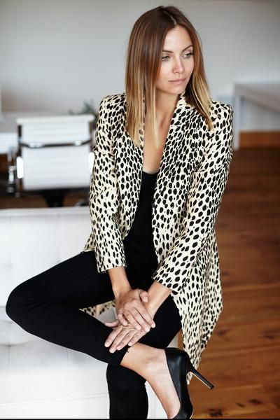 Emerson Fry Wingtip Coat in neutral Leopard print size 2 or 4 $328