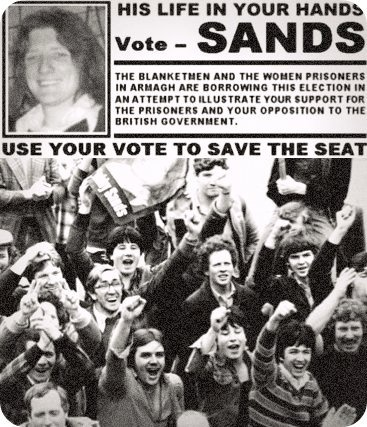 'The by-election held in Fermanagh and South Tyrone on 9 April 1981 is considered by many to be the most significant Ireland during the Troubles. It saw the first victory for the militant republican movement, which the following year entered electoral politics in full force as Sinn Féin. The successful candidate was IRA hunger striker Bobby Sands who died 26 days later. The by-election was caused by the death of the sitting MP Frank Maguire.'