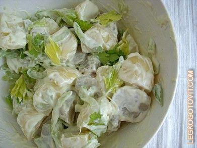 Фото рецепта: Салат из топинамбура и картофеля