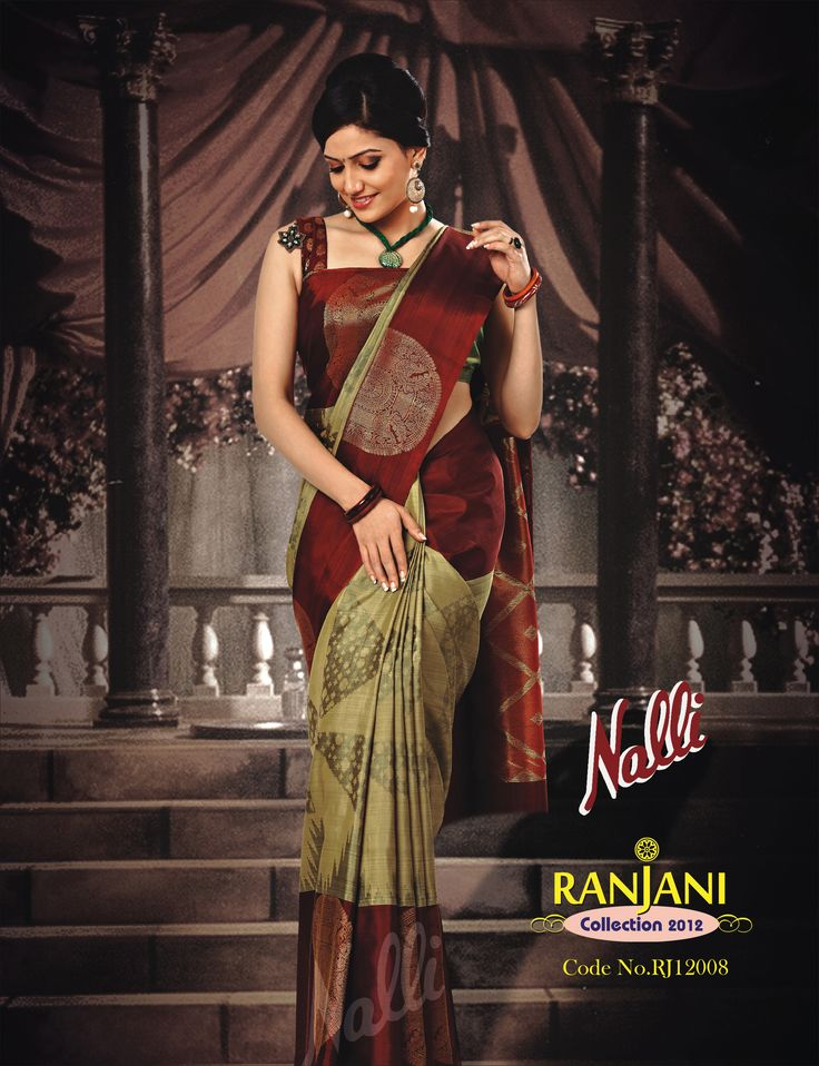 Product Code - RJ12008 . Hold sway over the world with red silk with muted gold moties.
