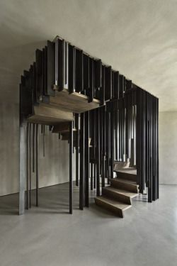 thedesignwalker:  Dramatic Staircase Changes Its Appearance Based on Your Perspective