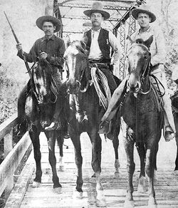 Three Texas Rangers circa 1892. Texas Ranger Hall of Fame and Museum.
