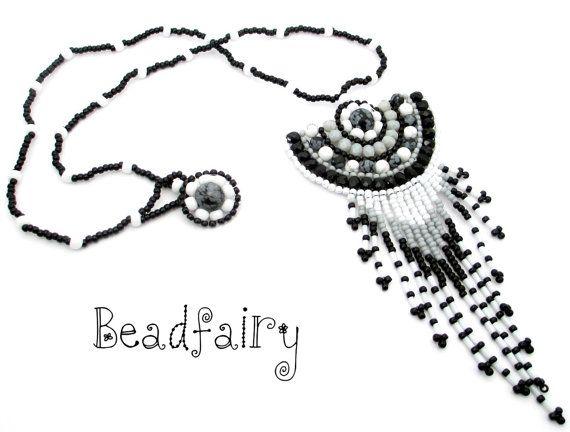 Talisman of Grey Shades by BeadfairyStore on Etsy