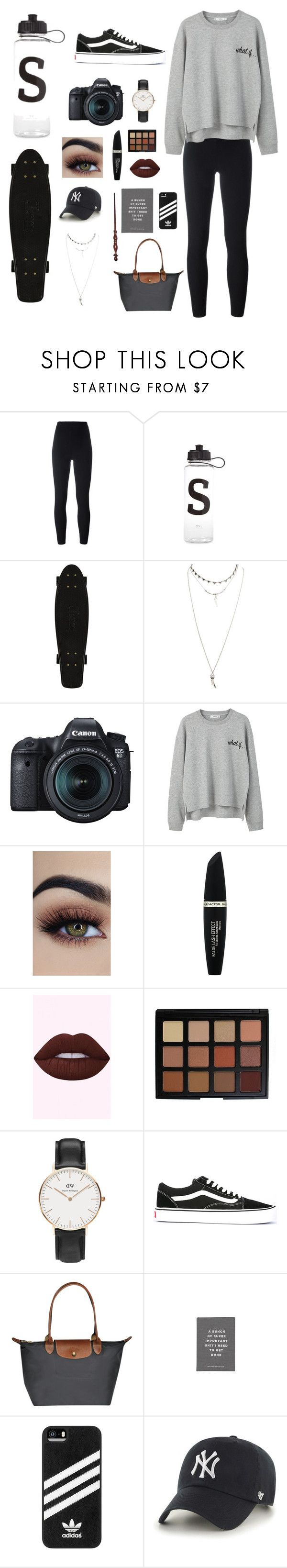 """""""Untitled #33"""" by selma-malfoy ❤ liked on Polyvore featuring Yeezy by Kanye West, Wet Seal, Eos, MANGO, Max Factor, Morphe, Daniel Wellington, Vans, adidas and '47 Brand"""