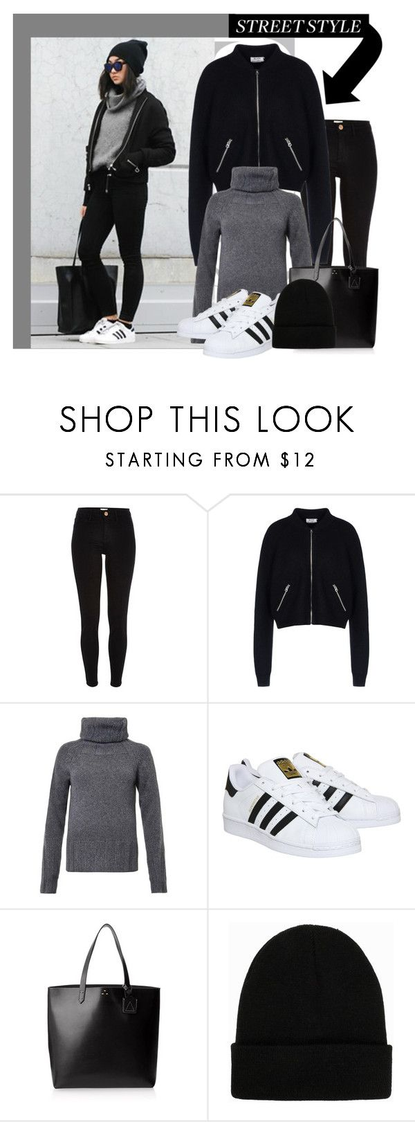 """Untitled #963"" by samha ❤ liked on Polyvore featuring River Island, Acne Studios, Joseph, adidas, Kelsi Dagger Brooklyn and NLY Accessories"