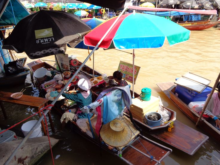 Floating markets out of Bangkok. Not the usual one , it's called Amphawa you can stay overnight & see the fireflies. Really local but very busy esp on public holidays