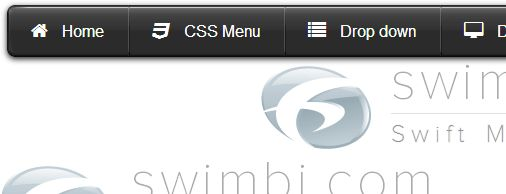 CSS menu with live preview animation