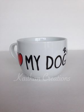 Love my Dog Mug by Kaithan Creations perfect for those DOg lovers.  Can be personalized.  Visit my Facebook page to place your order. https://www.facebook.com/kaithancreations/photos/a.477422192457533.1073741846.216663808533374/484313588435060/?type=3