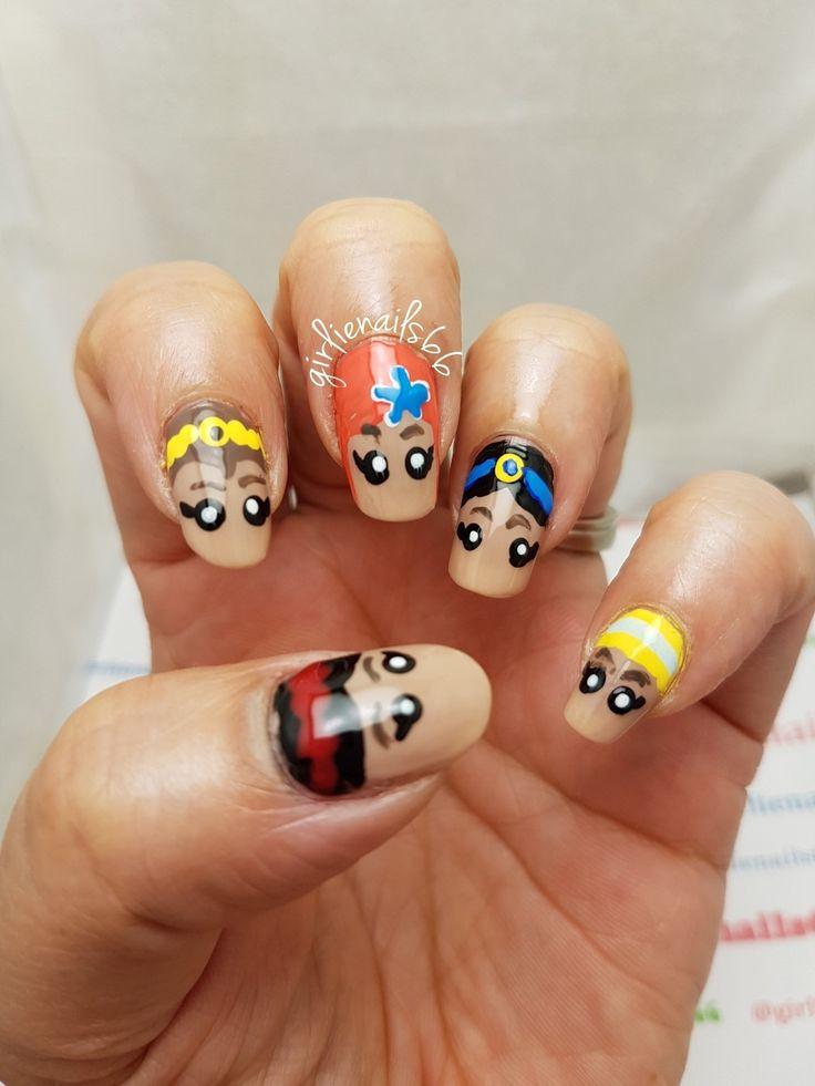 Disney Princess Nails Hand painted